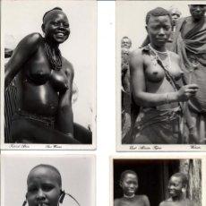 Postales: LOTE DE 9 POSTALES DE MUJERES DEL ÁFRICA NEGRA. Lote 105881439