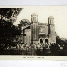 Postales: ANTIGUA FOTO POSTAL DE MOMBASA. KENYA. VISTA DE LA CATEDRAL. SIN CIRCULAR. Lote 108439599