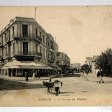 Postales: ANTIGUA POSTAL DE BIZERTE (TUNEZ). AVENIDA DE FRANCIA. SIN CIRCULAR. Lote 111102915
