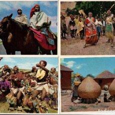 Postales: LOTE DE 28 POSTALES DE LESOTHO, ÁFRICA DEL SUR - AÑOS 1960-1970. Lote 111328743