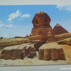 Postales: POSTAL DE GIZA ( EGIPTO ) : LA GRAN ESFINGE Y PIRAMIDE DE KHEFRE. AÑOS 60. Lote 112921079