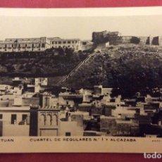 Postales: POSTAL TETUAN. N-152 .CUARTEL DE REGULARES Y ALCAZABA. F.CALATAYUD. AÑOS 50. ESCRITA Y NO CIRCULADA.. Lote 112932111