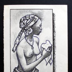 Postales: POSTAL TRADITIONAL DANCING NIGERIA -GREETINGS - BLANCO Y NEGRO -NUEVA -. Lote 113093223
