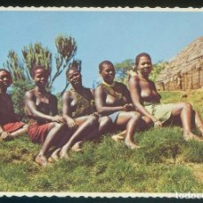 Postales: SUDÁFRICA. NATAL. *ZULU GIRLS. VALLEY OF A THOUSAND HILLS...* NUEVA.. Lote 113705863