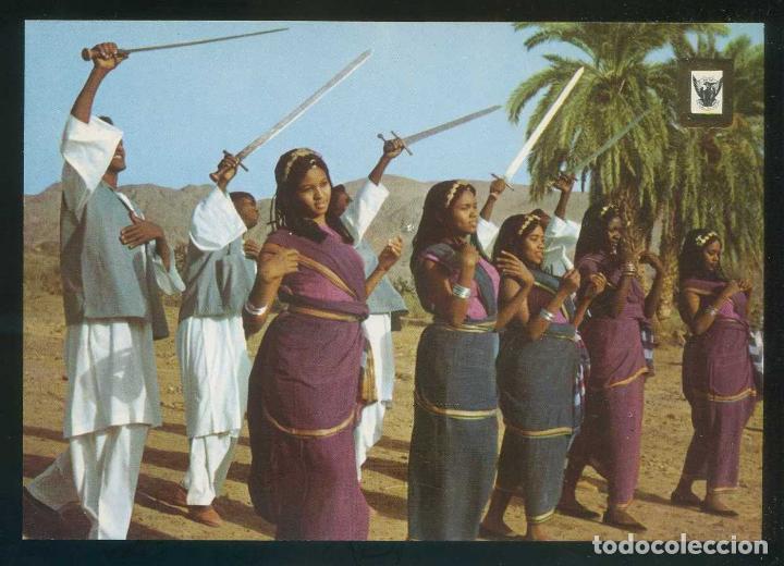 SUDÁN. *FOLKLORE DANCE IN THE RED SEA AREA* NILO DISTR. Nº 4B. NUEVA. (Postales - Postales Extranjero - África)