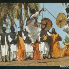 Postales: SUDÁN. *HADADAWA TRIBAL DANCE. EASTERN PROVINCES* NILO DISTR. Nº 6B. NUEVA.. Lote 113833683