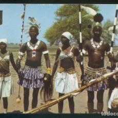 Postales: SUDÁN. *DRESSING FOR A DANCE. IN THE SOUTHERN SUDAN* NILO DISTR. Nº 11B. NUEVA.. Lote 113833947