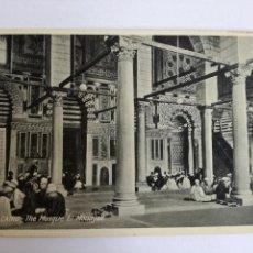 Postales: POSTAL EL CAIRO THE MOSQUE EL MOUAYAD REZANDO EN LA MEZQUITA - BY LEHNERT & LANDROCK - AÑOS 30. Lote 113872359