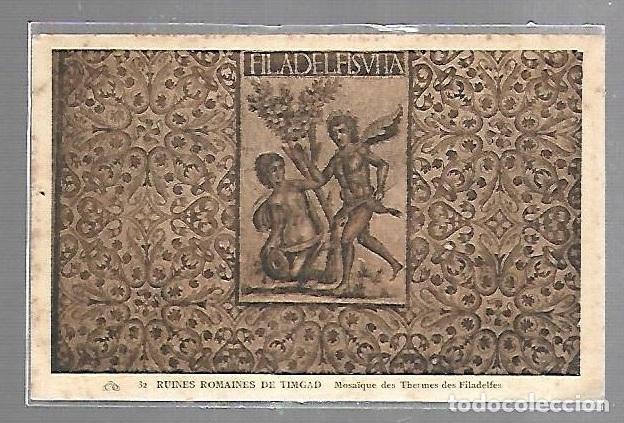 TARJETA POSTAL DE ARGELIA. TIMGAD. 32. MOSAIQUE DES THERMES DES FILADELFES (Postales - Postales Extranjero - África)