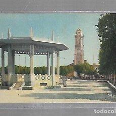 Postales: TARJETA POSTAL DE RELIZANE, ARGELIA - KIOSQUE ET EGLISE. FOTO COMBIER MACON. Lote 121312907