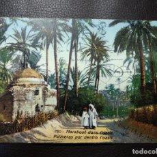 Postales: PALMERAS POR DENTRO L'OASIS. LEHNERT&LANDROCK. CIRCULADA. DATADA EN 1915.. Lote 121516291