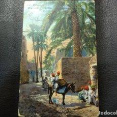 Postales: POSTAL UNA CALLE AL PUEBLO. LEHNERT&LANDROCK. CIRCULADA. DATADA EN 1915.. Lote 121516699