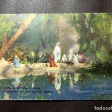 Postales: POSTAL CAMPAMENTO POR DENTRO L'OASIS. LEHNERT&LANDROCK. CIRCULADA. DATADA EN 1915.. Lote 121516791