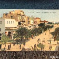 Postales: 8 SFAX TUNISIE BOULEVARD DE FRANCE ED JM POSTAL TUNEZ 1926. Lote 121590291