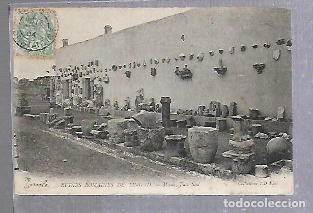 TARJETA POSTAL. ARGELIA. RUINES ROMAINES DE TIMGAD - MUSEE, FACE SUD. 76. ND PHOTO (Postales - Postales Extranjero - África)