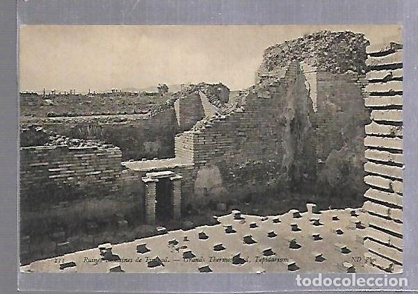 TARJETA POSTAL. ARGELIA. RUINES ROMAINES DE TIMGAD - GRANDS THERMES NORD. 111. ND PHOTO (Postales - Postales Extranjero - África)