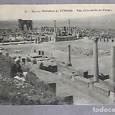 Postales: TARJETA POSTAL. ARGELIA. RUINES ROMAINES DE TIMGAD - VUE D'ENSEMBLE DU FORUM. 16. ND PHOTO. Lote 122336707