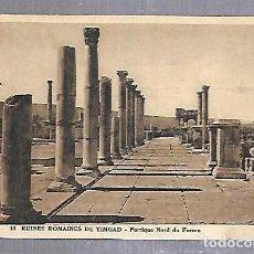 Postales: TARJETA POSTAL. ARGELIA. RUINES ROMAINES DE TIMGAD - PORTIQUE NORD DU FORUM. 13.. Lote 122336791
