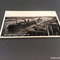 Postales: POSTAL (PORT-SAID. ENTRANCE OF THE SUEZ CANAL) ED. LEHNERT & LANDROCK SUCC. 14 X 9CM. Lote 125128511