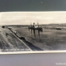 Postales: POSTAL (PORT-SAID. VIEW OF THE SUEZ CANAL) ED. LEHNERT & LANDROCK SUCC. 14 X 9CM. Lote 125128715