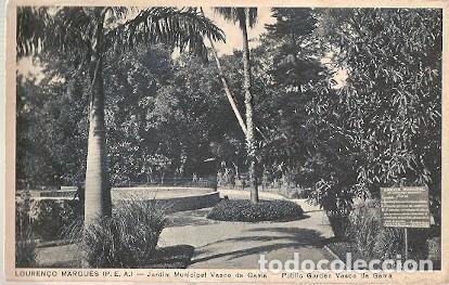 MOZAMBIQUE & PORTUGAL ULTRAMAR, LOURENÇO MARQUES, JARDINES MUNICIPAL VASCO DA GAMA (6868) (Postales - Postales Extranjero - África)