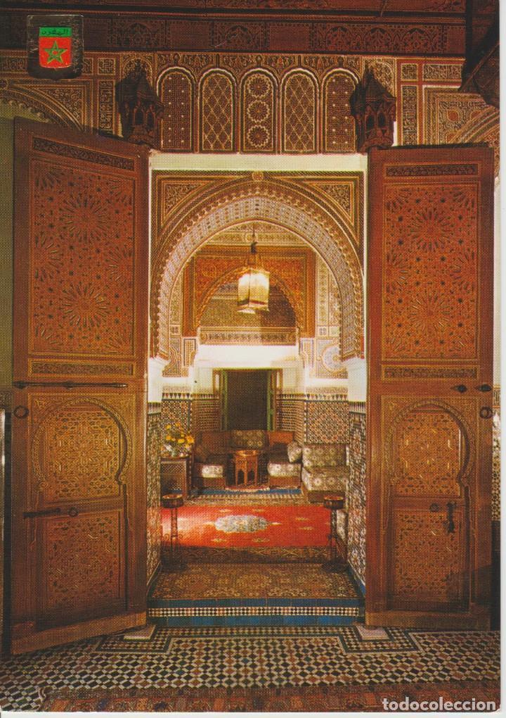 FES (MARRUECOS). INTERIOR SALON ARABE HOTEL JAMAL