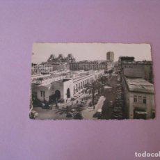 Postales: POSTAL FOTOGRÁFICA DE MARRUECOS. CASABLANCA. ED. CIGOGNE. EL MERCADO CENTRAL. ESCRITA 1954... Lote 128786979