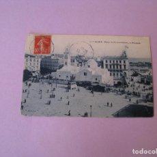 Postales: POSTAL DE ARGELIA. ARGEL. PLAZA DEL GOBIERNO Y LA MEZQUITA. CIRCULADA 1908.. Lote 128788143