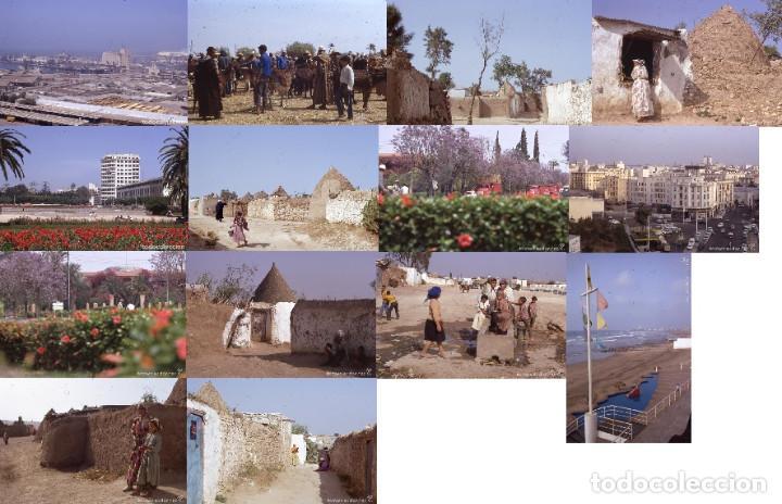 LOTE 48: 14 DIAPOSITIVAS MARRUECOS CASABLANCA MARRAKECH AÑO 1970 KODACHROME 35MM SLIDE FOTO AUTOR (Postales - Postales Extranjero - África)