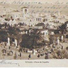Postales: P- 8507. POSTAL TETUAN, PLAZA DE ESPAÑA. ED. ARRIBAS. CIRCULADA.. Lote 128961843