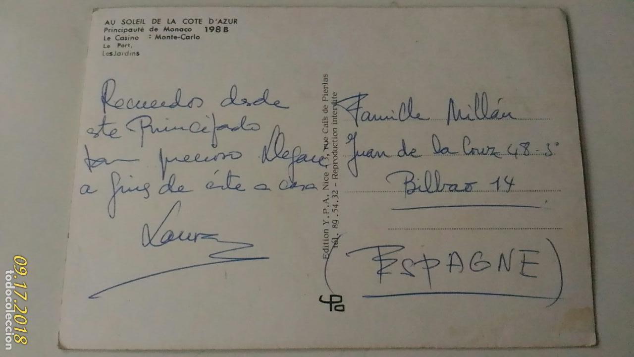 Postales: POSTAL DE MÓNACO. DIVERSOS ASPECTOS. ESCRITA. - Foto 2 - 133598758