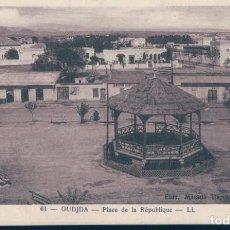 Postales: POSTAL OUDJDA - PLACE DE LA REPUBLIQUE - LL - LEVY ET NEURDEIN RFUNIS - MARRUECOS. Lote 134091598