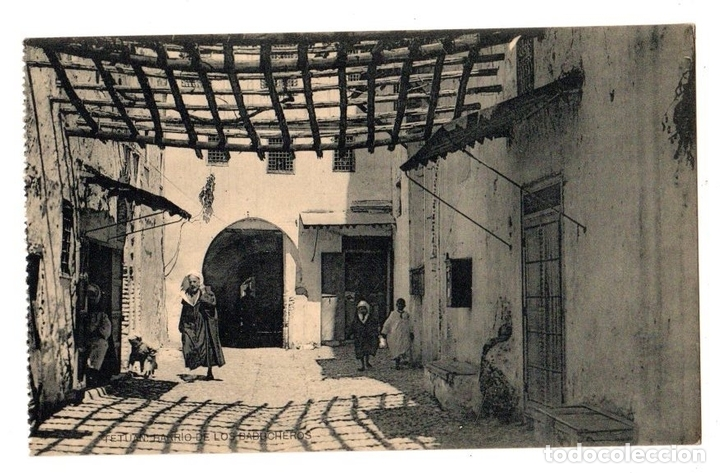 TARJETA POSTAL TETUAN. BARRIO DE LOS BABUCHEROS. HAUSER Y MENET (Postales - Postales Extranjero - África)