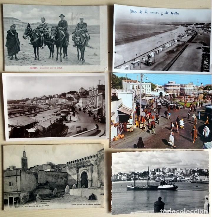 LOTE DE 6 POSTALES ANTIGUAS DE TANGER, VER FOTOS (Postales - Postales Extranjero - África)