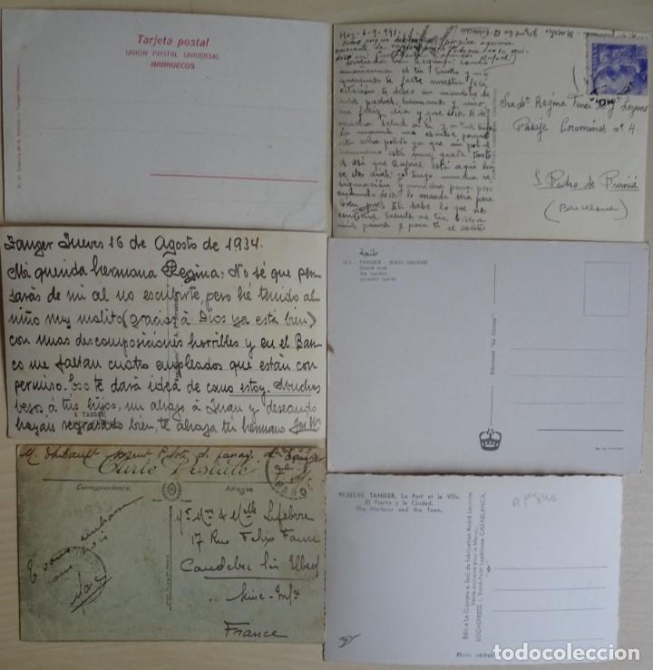 Postales: LOTE DE 6 POSTALES ANTIGUAS DE TANGER, VER FOTOS - Foto 8 - 135184442