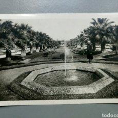 Postales: POSTAL MARRUECOS CASABLANCA PARC LYAUTEY UN BASSIN ESCRITA AÑO 1940. Lote 135225735