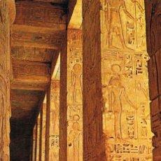 Postales: EGIPTO DE LOS FARAONES: TEBAS, TEMPLO DE MEDINET HABU. Lote 135238374