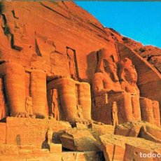 Postales: EGIPTO DE LOS FARAONES: ABU SIMBEL, TEMPLO DE RAMSES II. Lote 135239914