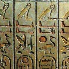 Postales: EGIPTO DE LOS FARAONES, JEROGRIFICOS, UNA LISTA DE FARAONES EN EL TEMPLO DE RAMSES II EN ABYDOS. Lote 135328562
