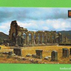 Postales: POSTAL - BASILICA Y CAPITOLIO DE VOLUBILIS - MARRUECOS -. Lote 135927506