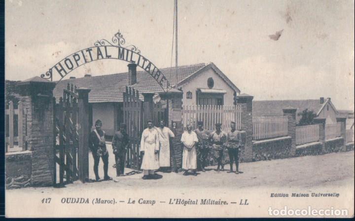 POSTAL OUDJA - MAROC - LE CAMP -L'HOPITAL MILITAIRE - LL - MARRUECOS (Postales - Postales Extranjero - África)