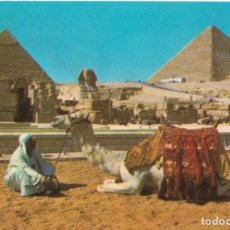 Postales: == B176 - POSTAL - THE SPHINX AND THE PYRAMIDS OF CHEOPS AND CHEPHERN - GIZA. Lote 137187598