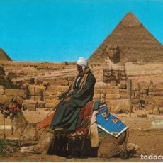 Postales: == B180 - POSTAL - THE GREAT SPHINX AND THE PYRAMIDS - GIZA. Lote 137188354