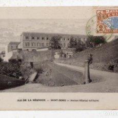 Postales: ISLA DE REUNIÓN. SAINT DENIS. HOSPITAL MILITAR DE VETERANOS. FRANQUEADA EN DICIEMBRE DE 1918. Lote 138082446