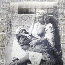 Postales: POSTAL SCENES ET TYPES MAURESME ET SON ENFANT 1007, ORAN. Lote 138180686