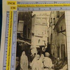 Postales: POSTAL DE ARGELIA. AÑOS 10 30. ARGEL ALGER CALLE CASBAH. TIPISMO ESCENA VIVA ÉTNICA. 1646. Lote 140050398