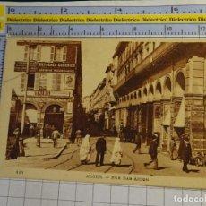 Postales: POSTAL DE ARGELIA. AÑOS 10 30. ARGEL ALGER RUE BAB AZOUN 1654. Lote 140050806