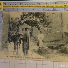 Postales: POSTAL DE ARGELIA. AÑOS 10 30. BISKRA INDÍGENAS. ESCENA VIVA TIPISMO. ÉTNICA. 1662. Lote 140051182