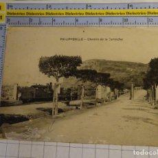Postales: POSTAL DE ARGELIA. AÑOS 10 30. PHILIPPEVILLE CHEMIN DE LA CORNICHE . 1666. Lote 140051378
