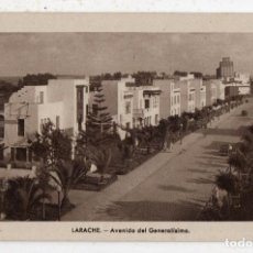 Postales: LARACHE. AVENIDA DEL GENERALÍSIMO.. Lote 143573794